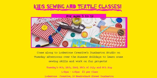 Kids Sumer Holiday Sewing and Textile Classes