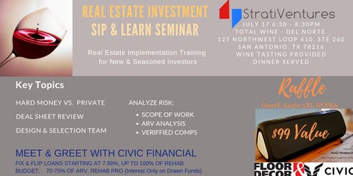 Sip and Learn: A Workshop for Real Estate Investors