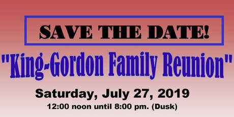 """King/Gordon Family Reunion"" tickets"