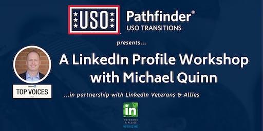 USO Pathfinder LinkedIn Workshop with Michael Quinn