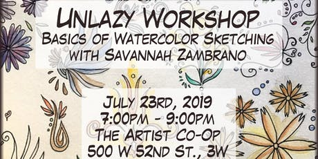 Unlazy Workshop - Basics of Watercolor Sketching tickets
