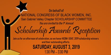 NCBW-SGVC Scholarship Awards Reception tickets