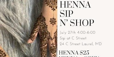 Henna Sip N' Shop