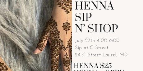 Henna Sip N' Shop tickets