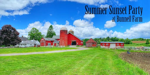2019 Summer Sunset Party at Bunnell Farm
