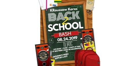 KRoussaw Kares Annual Back 2 School Bash  tickets