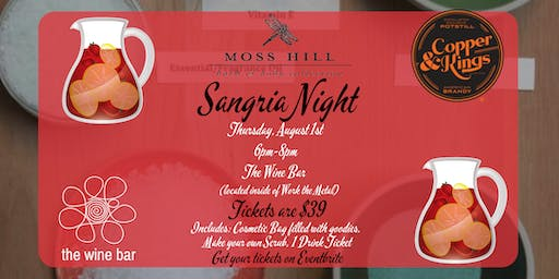 Sangria Night with Moss Hill and Copper & Kings