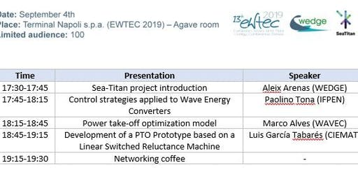 SeaTitan Workshop at EWTEC2019
