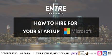 How to Hire for Your Startup tickets