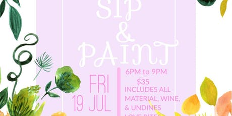 Summer Sip and Paint on Canvas tickets