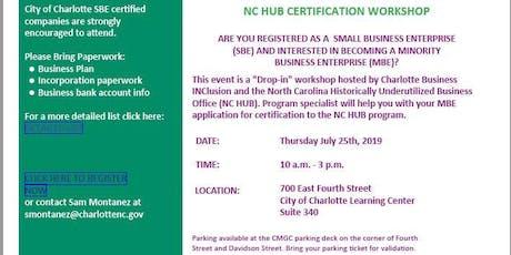 NC HUB CERTIFICATION WORKSHOP tickets