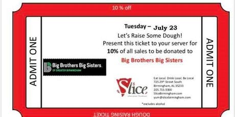 Big Brothers Big Sisters Dough Raiser at Slice Pizza tickets