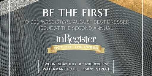 inRegister Best Dressed Hot Off the Press
