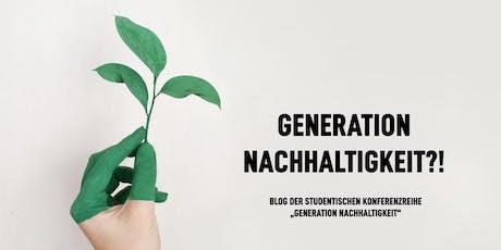 Konferenz  Generation Nachhaltigkeit Tickets