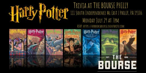 Harry Potter (Books) Trivia at The Bourse Philly