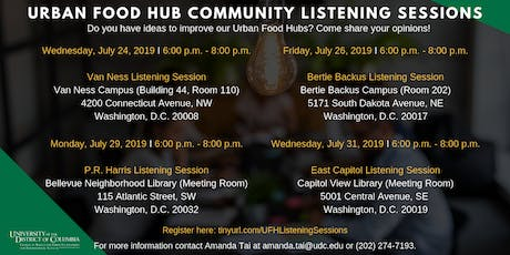 Urban Food Hubs Community Listening Sessions tickets