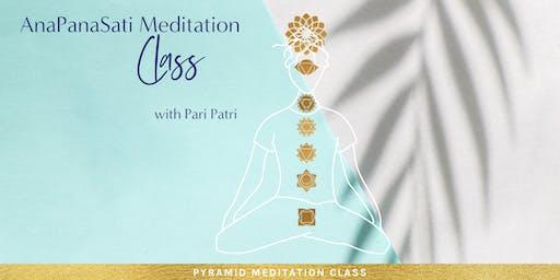 ANAPANASATI MEDITATION CLASS