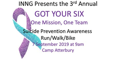 Got Your Six 5K Run/Walk/Bike tickets