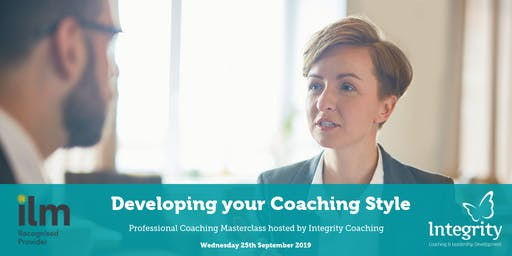 Professional Coaching Masterclass - Developing your Coaching Style