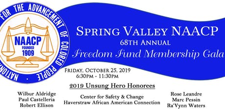 Spring Valley NAACP 68th Annual Freedom Fund Membership Gala tickets