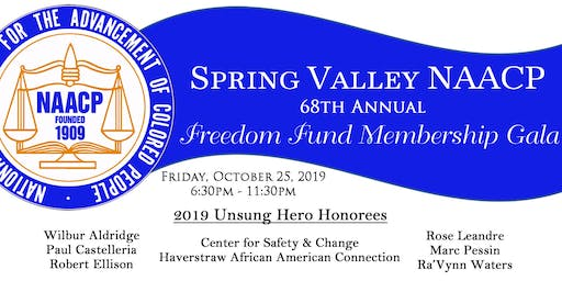 Spring Valley NAACP 68th Annual Freedom Fund Membership Gala