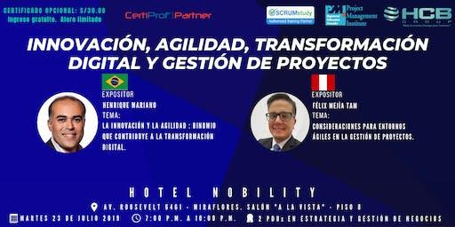 Innovación,agilidad,transformación digital y gestión de proyectos