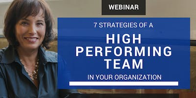 7 Strategies to Build a High-Performing Team in Your Organization (Webinar)