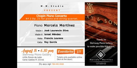 Chopin Piano Concerto N2 Op 21 and String Quartet tickets