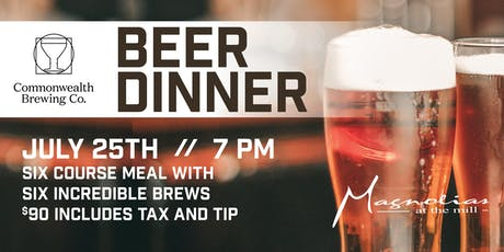 Commonwealth Brewing Beer Dinner tickets
