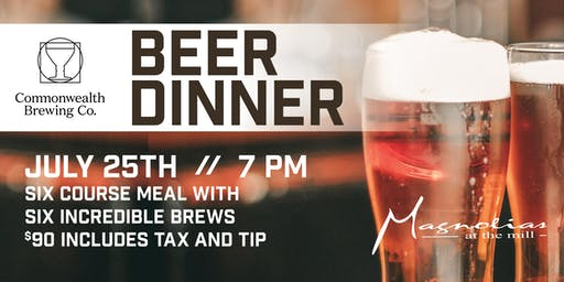 Commonwealth Brewing Beer Dinner