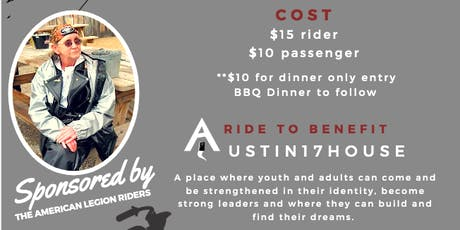 24th Annual Charlotte Memorial Ride to benefit Austin17House! tickets