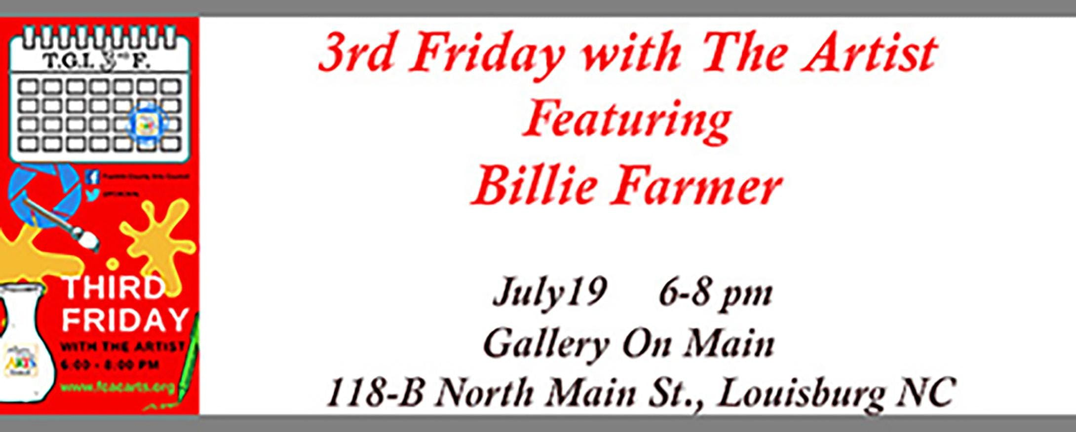 3rd Friday with the Artist - Billy Farmer
