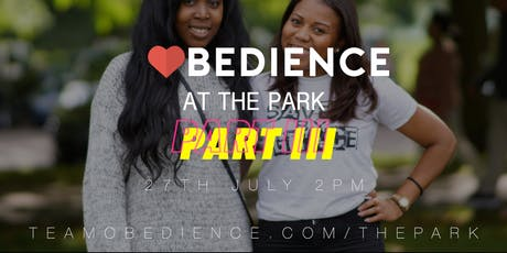 Obedience at the Park (Part 3) tickets