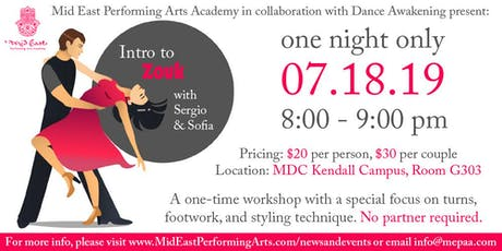 Brazilian Zouk Dance Workshop at MEPAA!  tickets