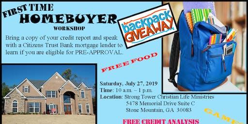 First Time Homebuyer Workshop & Backpack Giveaway