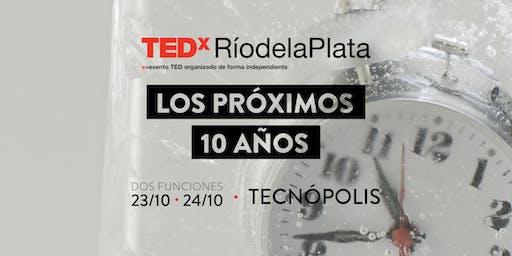 Inscripción sorteo de entradas TEDxRíodelaPlata2019: Los próximos 10 años