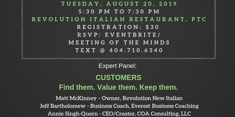 Meeting of the Minds for Entrepreneurs and Influencers - Tuesday, August 20, 2019  tickets
