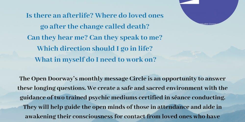 Spiritual Message Circle