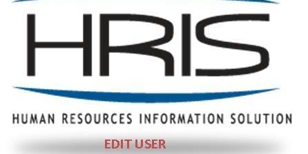 HRIS: Edit User (ONLINE COURSE)