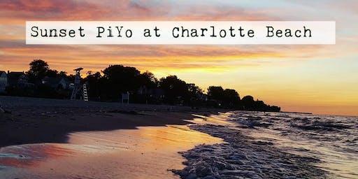 Sunset PiYo on Charlotte Beach