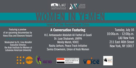 Women In Yemen: Impact of the Humanitarian Crisis  tickets