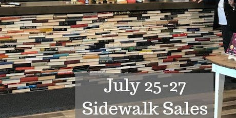 this is a bookstore & Bookbug Sidewalk Sales tickets