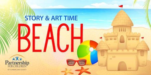 Beach themed Story & Art Time