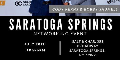 Saratoga Springs Networking Event - Salt & Char tickets