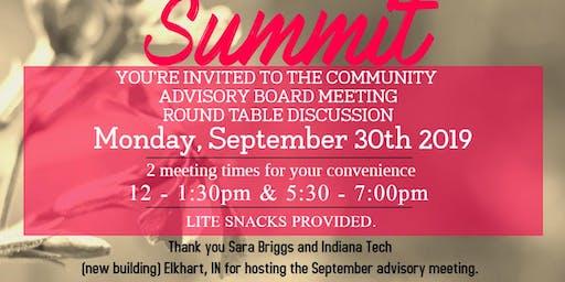 Women's Entrepreneur Summit Community Advisory Board Meeting - September