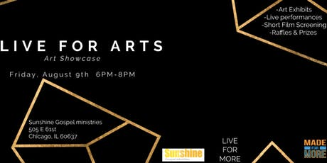Live For Arts      Art Showcase tickets