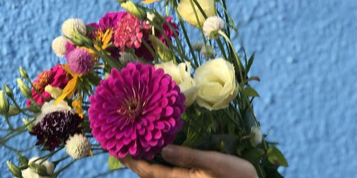 Sustainable Flower Arranging with Goats