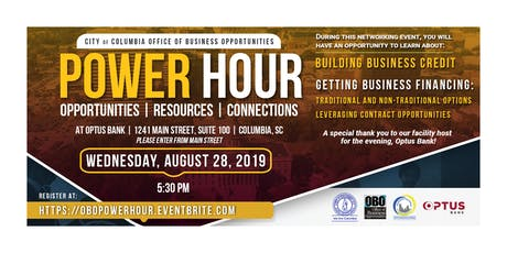 Power Hour: Opportunities, Resources & Connections _ Business Credit & Business Financing tickets
