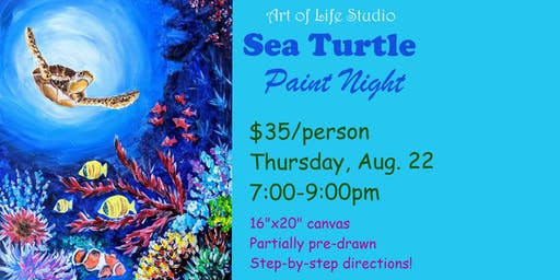 Paint Night: Sea Turtle