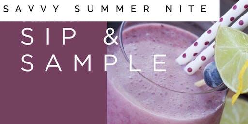 Savy Summer Nite Sip and Sample